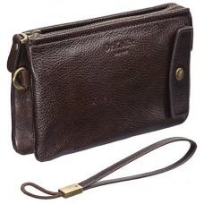 Мужская сумка-визитка из темно-коричневой кожи Dr.Koffer B402402-02-09