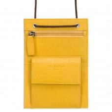Желтый нагрудный кошелек из кожи Dr.Koffer X253550-170-67